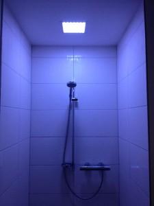 Beleuchtung Dusche mit RGB LED Cluster Matrix