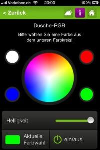 RGB Steuerung über Loxone App