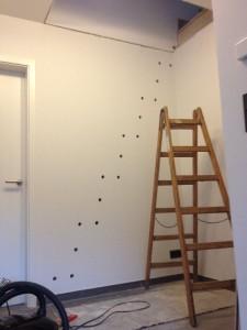 Vorbereitungen für die Treppenmontage