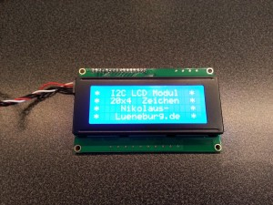 I2C LCD Modul am Raspberry Pi