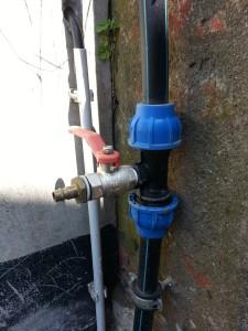 Gartenbewässerung Druckluftanschluss