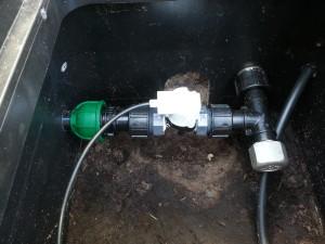 Gartenbewässerung Magnetventil angeschlossen