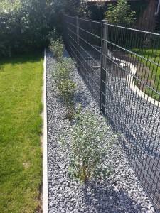 Steinbeet Zaun vorne 2