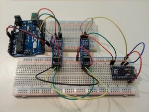 Erster Versuchsaufbau - RS485 zwischen zwei Arduinos