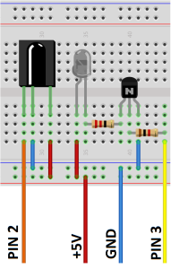 Arduino IR Modul - Steckplatine