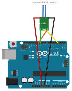 Verkabelung - RS485 Arduino und Loxone