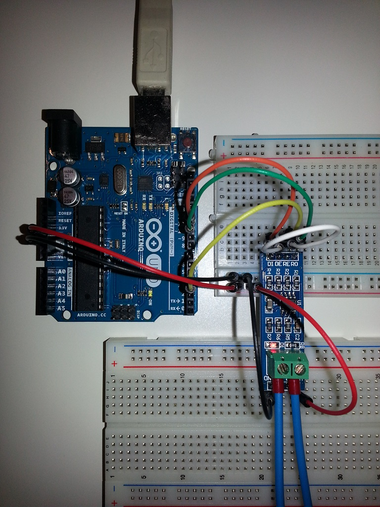 Arduino max modul mit loxone rs extension