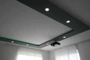 LED-Einbaupanel 6 Watt 230V dimmbar eingebaut