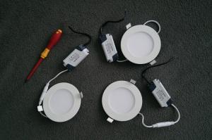 LED-Einbaupanel 6 Watt 230V dimmbar einzeln