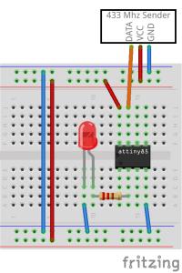 Arduino 433 Mhz Sender Steckplatine