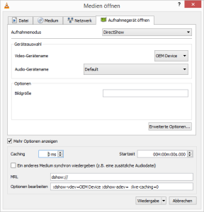 LogiLink VG0001A VLC Settings