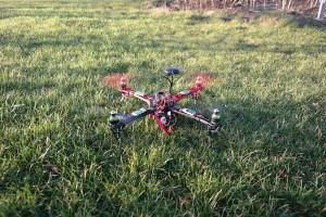 Quadrocopter selber bauen Landung
