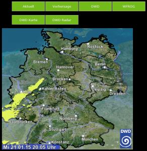 wfrog Frontend - DWD Radarbild