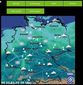 wfrog Frontend - DWD Wetterlage