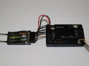 Verkabelung FrSky V8FR-II Empfänger und ArduPilot Mega