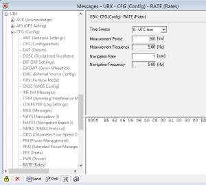 u-blox u-center Software - UBX-CFG-RATE