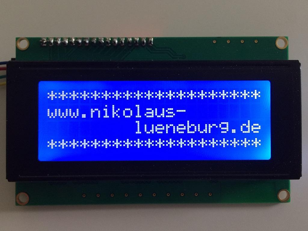 i2c lcd und arduino beispiel - Arduino Beispiele
