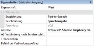 Linux Text-to-Speech Gateway - Loxone - Virtueller Ausgang