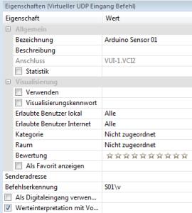 Arduino UDP und Analogwerte - Loxone Befehlserkennung