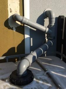 Regenwassertank IBC Zulauf Garagen