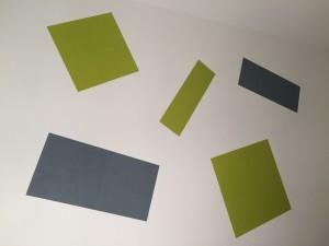 Wandgestaltung - Streichen ohne Farbverlauf - Farbige Rechtecke