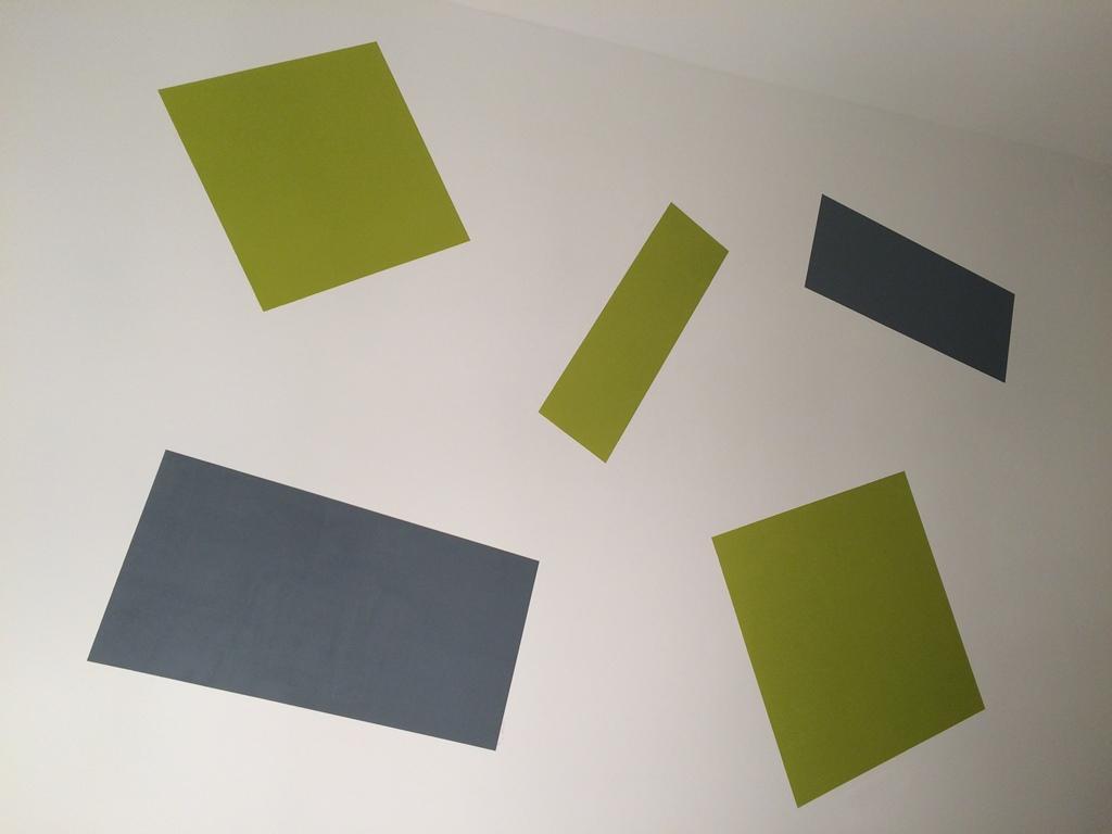 Hochwertig Wandgestaltung   Streichen Ohne Farbverlauf   Farbige Rechtecke