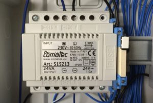 Unterverteilung im Garten - 24V AC Comatec Trafo Magnetventile