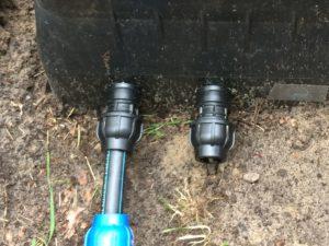 Gartenbewässerung - Ventilkasten Anschlüsse