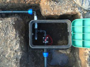 Gartenbewässerung - Ventilkasten eingebaut