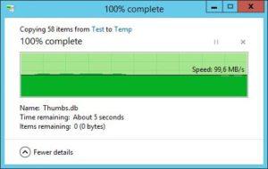 HP ProLiant MicroServer - Transferraten - 50 JPEG 8MB von HP SSD auf Server 3.0 SSD
