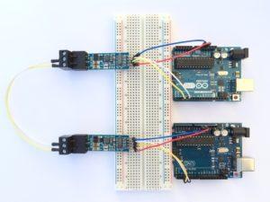 RS485 Modul mit Auto Direction Control - Testaufbau