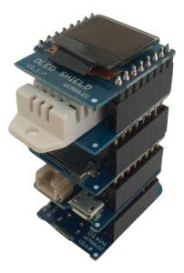 WeMos D1 mini - Shields Stapel