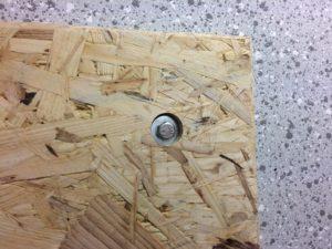 Werkzeugwand - Befestigung OSB Platte