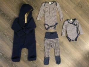 Babykleidung - Wolle und Seide