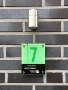 Grüne Hausnummer - Lüneburg