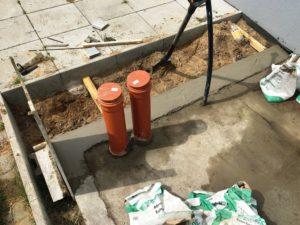 Schuppen selber bauen - Fundament mit Leerrohre