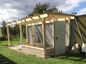 Schuppen selber bauen - Holzständerwerk