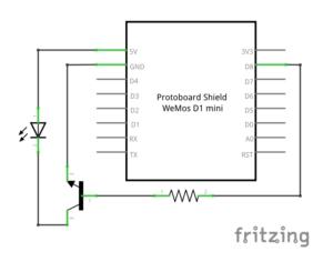WLAN IR Modul in Unterputzdose - Schaltung