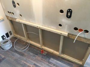 Projekt Neuer Schreibtisch - Aufbau Rückwand