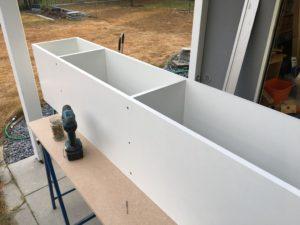 Projekt Neuer Schreibtisch - Bau Regal für IKEA HELMER