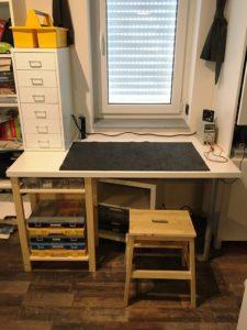 Projekt Neuer Schreibtisch - Nebenprojekt Basteltisch