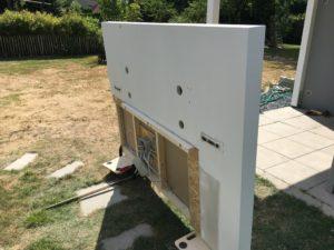Projekt Neuer Schreibtisch - Wand Vorderseite