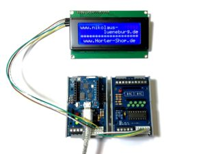 I2C WLAN Modul mit Wemos D1 mini - Prototyp mit Input Modul und I2C LCD