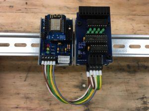 I2C WLAN Modul mit Wemos D1 mini - Prototyp mit Input und Output Modul