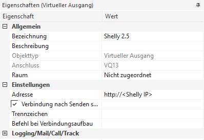Shelly 2.5 - Loxone Virtueller Ausgang