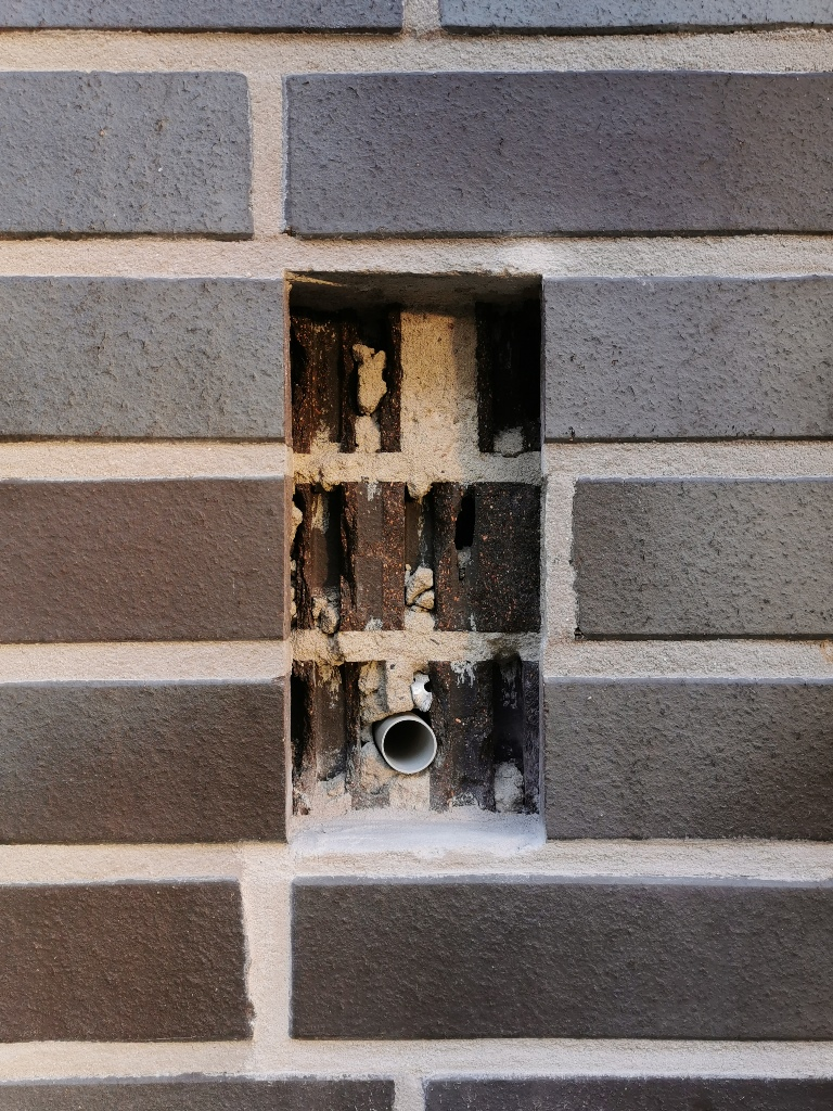 DoorBird D2101V Installation - Maueröffnung